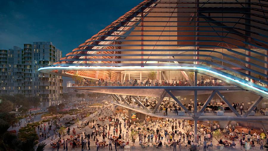 Imagen virtual del pabellón Casal España Arena que se construye en Valencia, vista 4