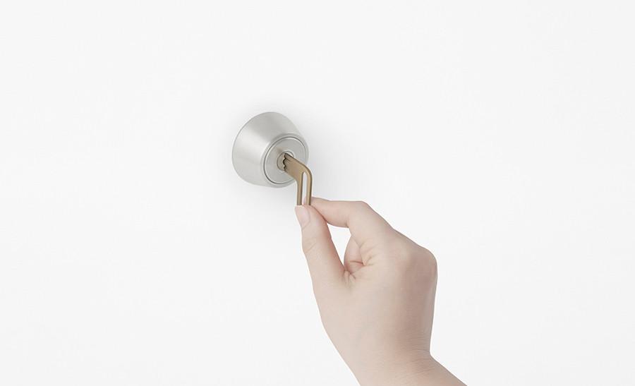 L-door, funcionamiento de la llave de puerta de disenador Oki Sato