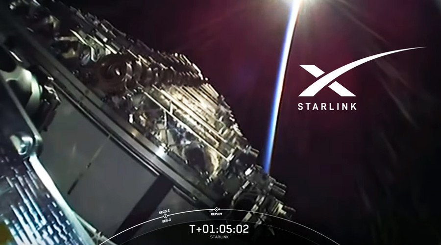 El sistema Starlink para conexión a internet vía satélite, un proyecto de la empresa de Elon Musk Space X.