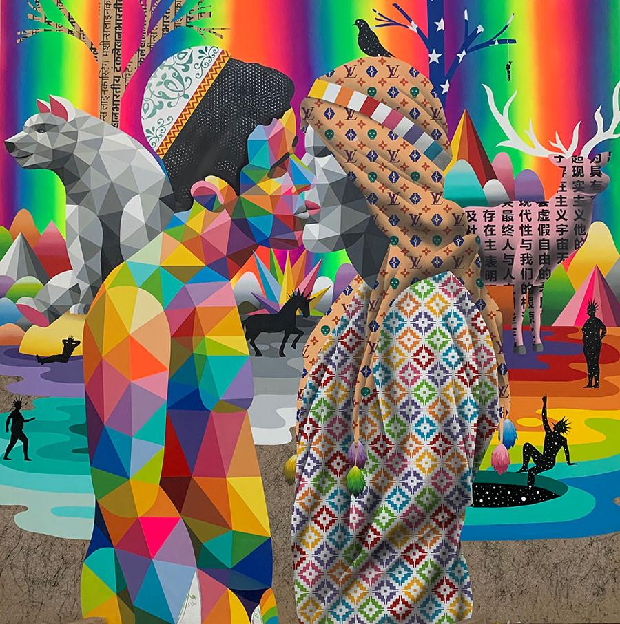 No borders in love, obra de Okuda San Miguel