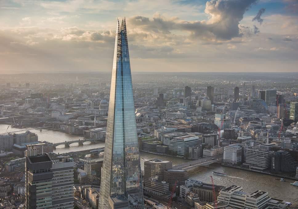 Rascacielos The Shard realizado en Londres por el arquitecto Renzo Piano