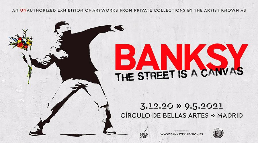 El 3 de diciembre se inaugura una exposición sobre el artista BANKSY en el Círculo de Bellas Artes de Madrid. La exposición que se llama