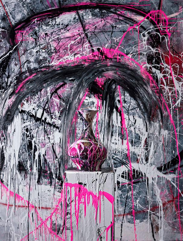 Fotografía de la artista y pintora Lita Cabellut