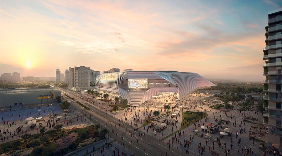 El pabellón Casal España Arena se está ya construyendo en Valencia, es un proyecto del empresario Juan Roig.