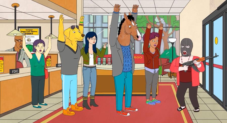 imagen de la serie de animación Bojack Horseman