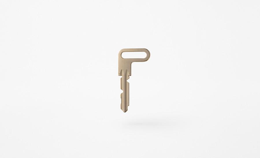 L-door, llave de puerta diseño de estudio Nendo de Oki Sato