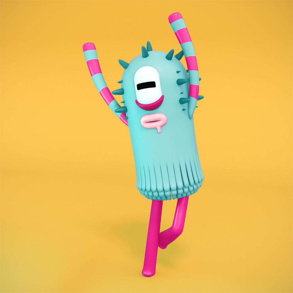 Ilustracion 11 sci-fi diseño 3D Cosmik Madness, Molly dancing