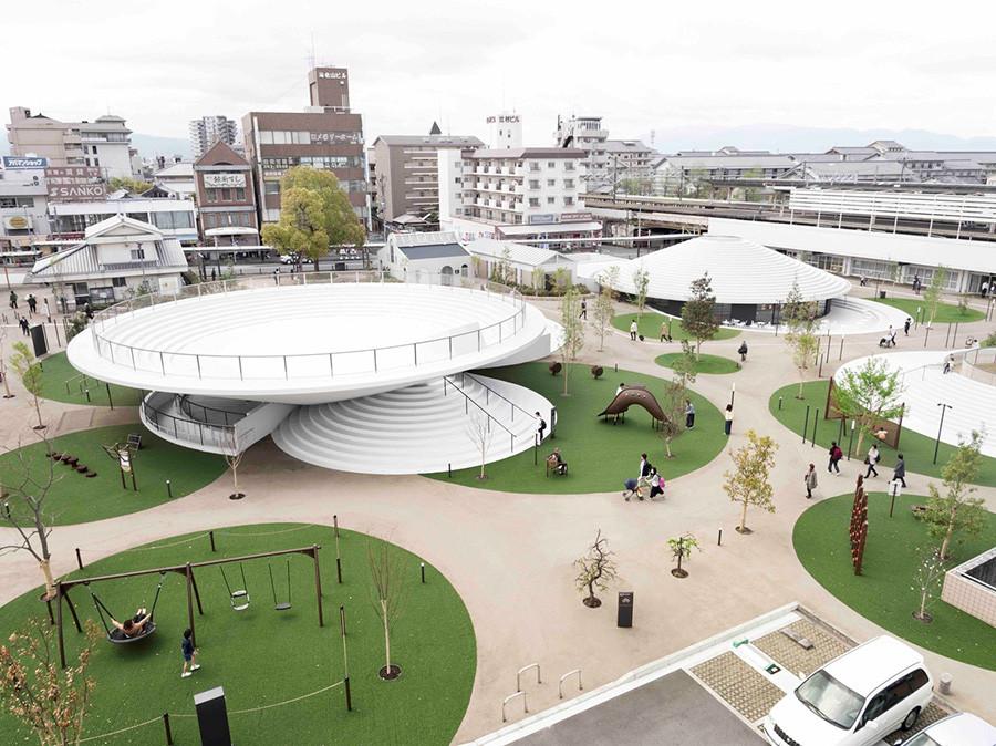 Diseño de arquitectura Plaza Estación de Tenri estudio Nendo, imagen 2