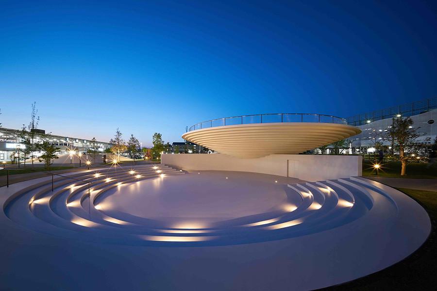 Diseño de arquitectura Plaza Estación de Tenri estudio Nendo, imagen 7