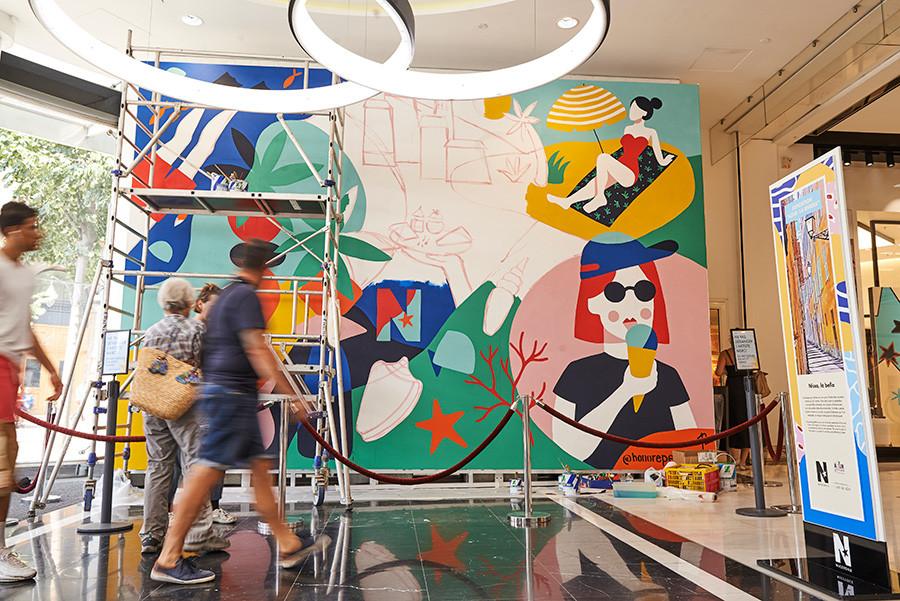 Perrine Honoré, pintura mural
