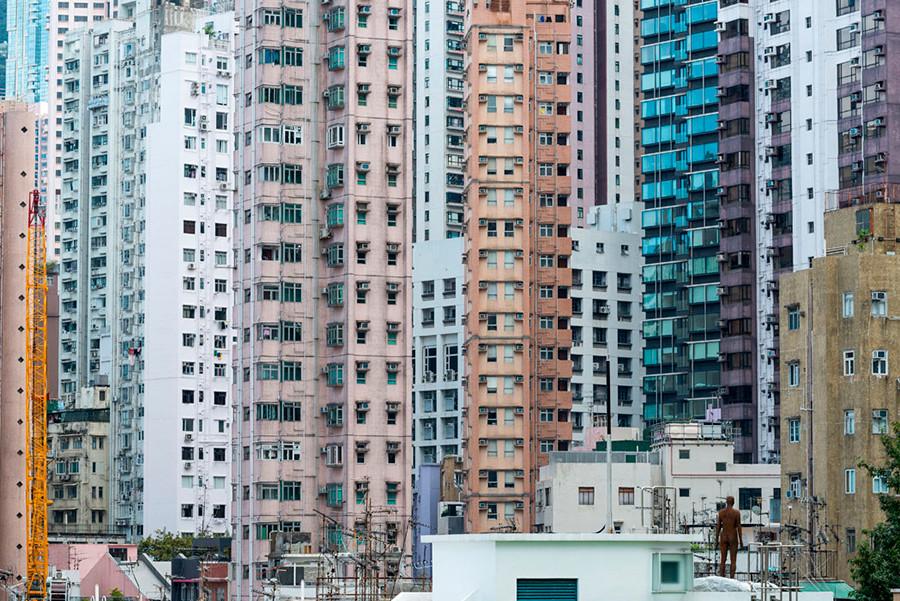 Instalación de Antony Gormley Event Horizon en Hong Kong, vista 9