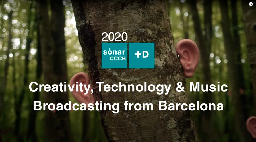 Sónar acaba de presentar la edición de Sónar+D CCCB 2020 que este año será online a través de una plataforma audiovisual vía web en dos canales diferentes de streaming gratuito.
