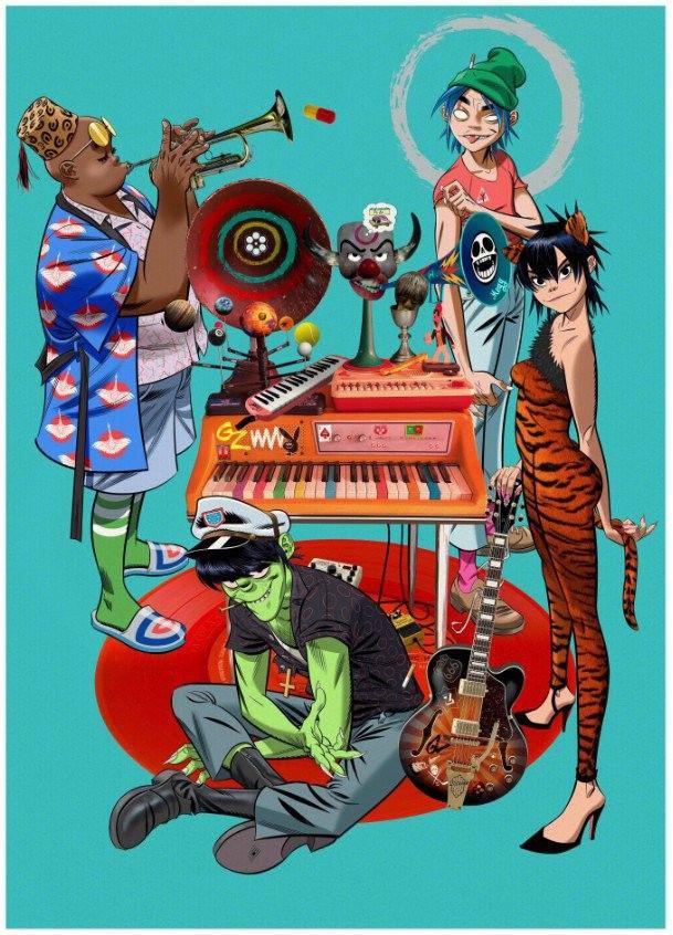 Gorillaz Song Machine Poster