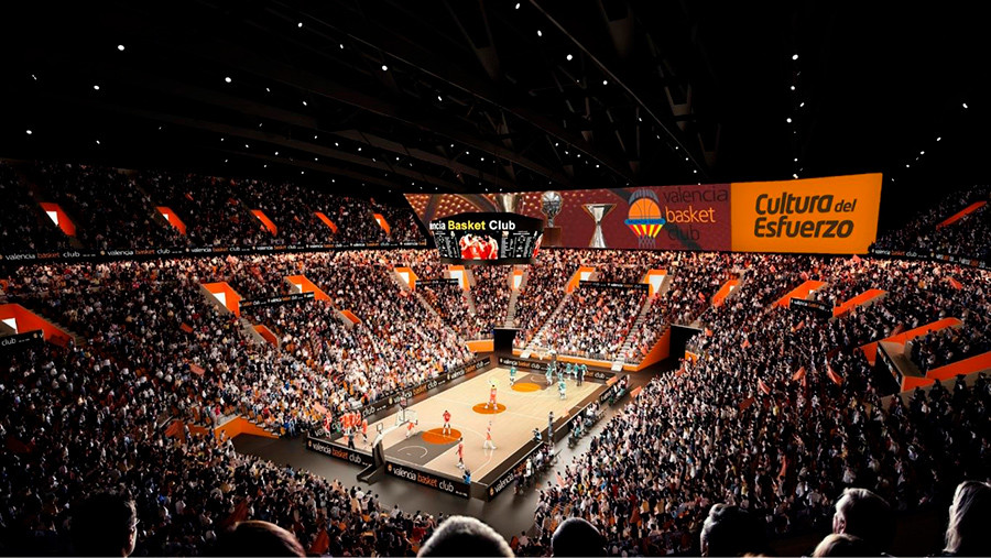Imagen virtual del pabellón Casal España Arena que se construye en Valencia, vista 5