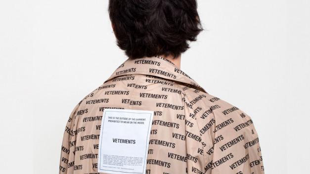 Diseño de la marca de moda Vetements.