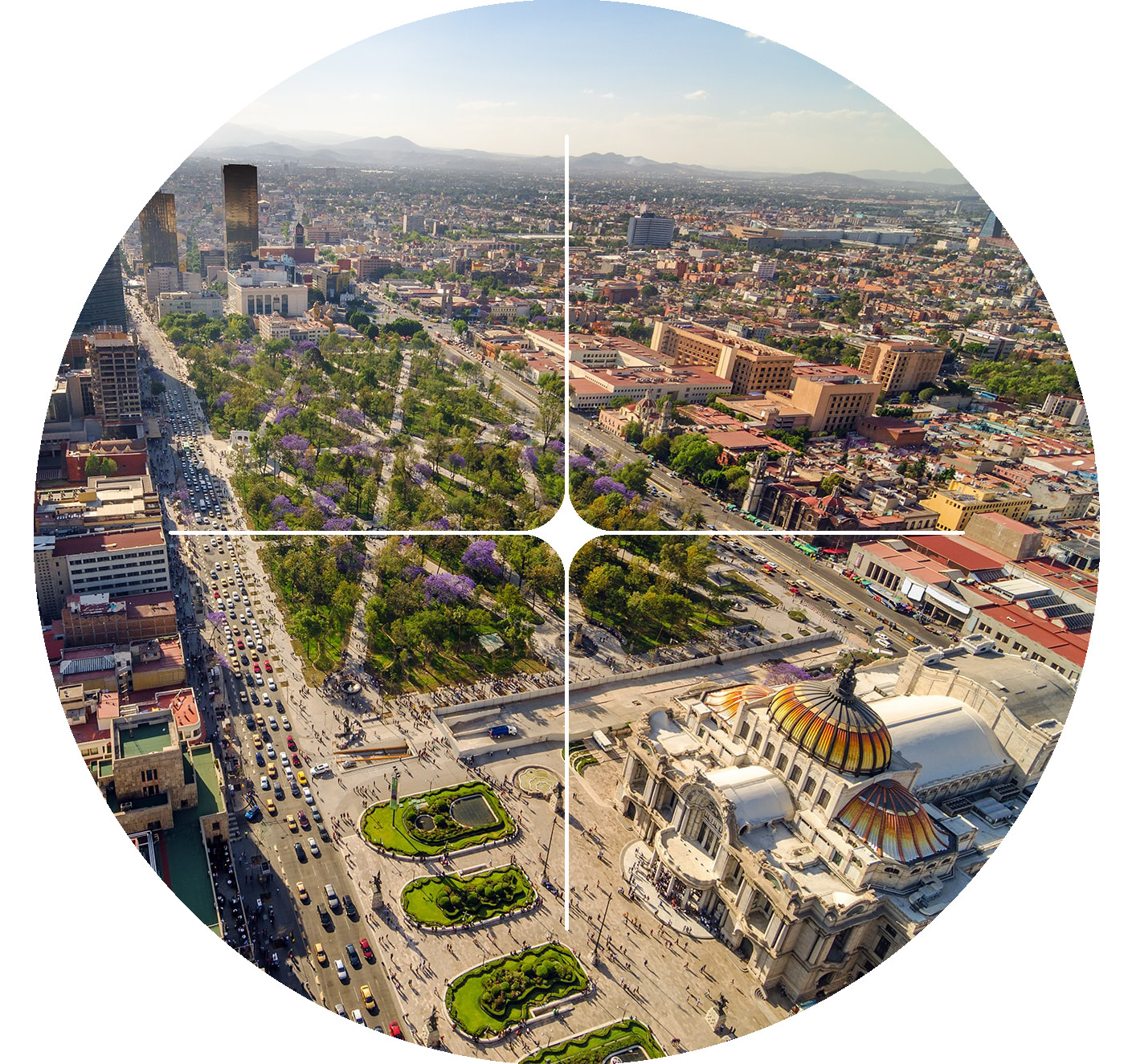 Paisaje aéreo de Ciudad de México