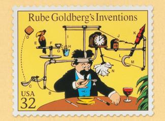 Una máquina de Goldberg es un aparato muy complejo que realiza una tarea muy simple de una manera indirecta y retorcida.