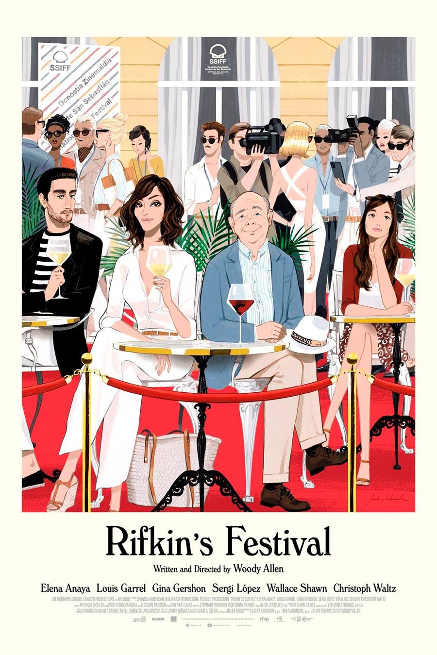Película Rifkin's Festival de Woody Allen, cartel ilustración de Jordi Lavanda