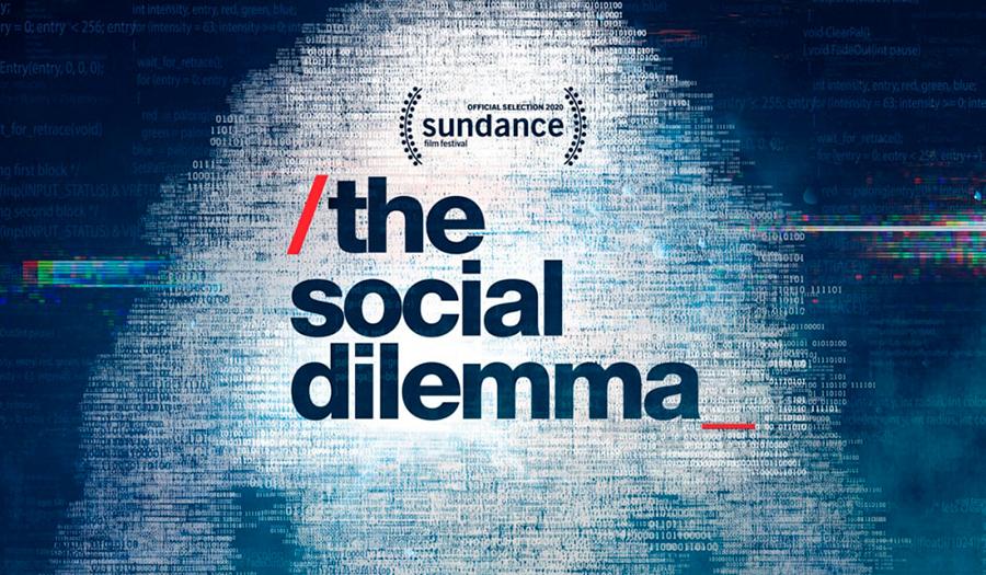 Cartel de el dilema de las redes sociales, documental de Netflix presentado en el Festival de Sundance