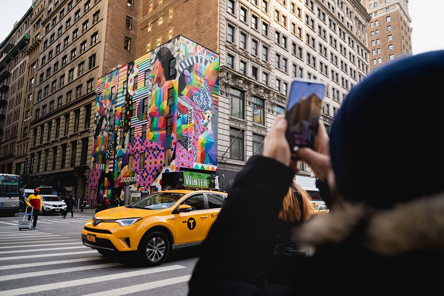 Multiculture Freedom, obra del año 2019 del artista Okuda San Miguel en la ciudad de Nueva York