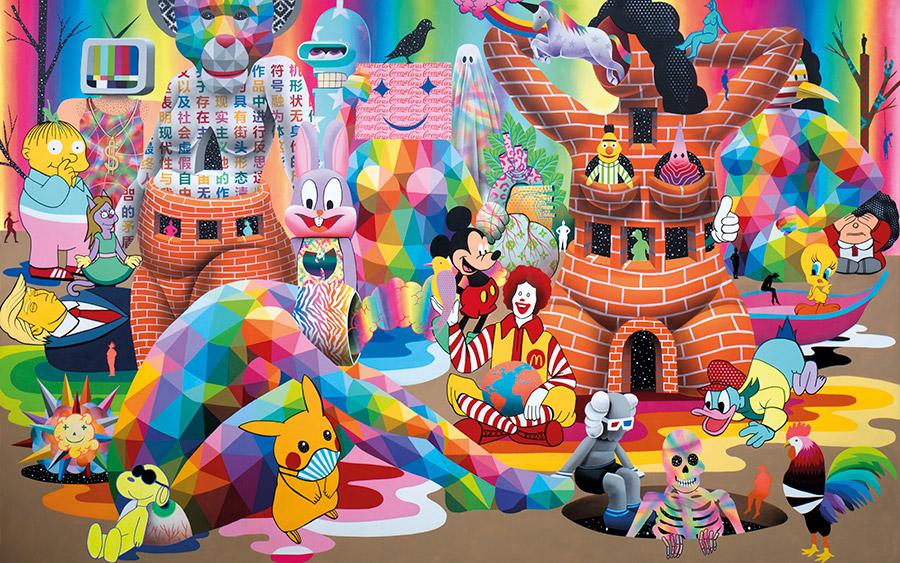 Quarantine Dreams, obra de Okuda realizada durante el confinamiento de 2020