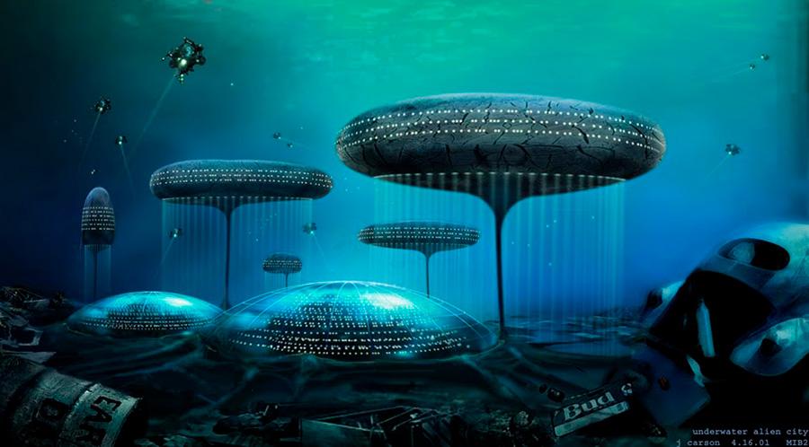 Underwater city 1. Ciudad submarina obra de un autor desconocido