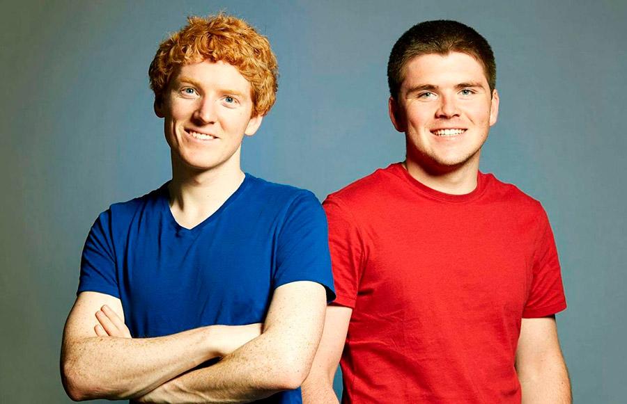 Patrick y John Collison, fundadores de Strip