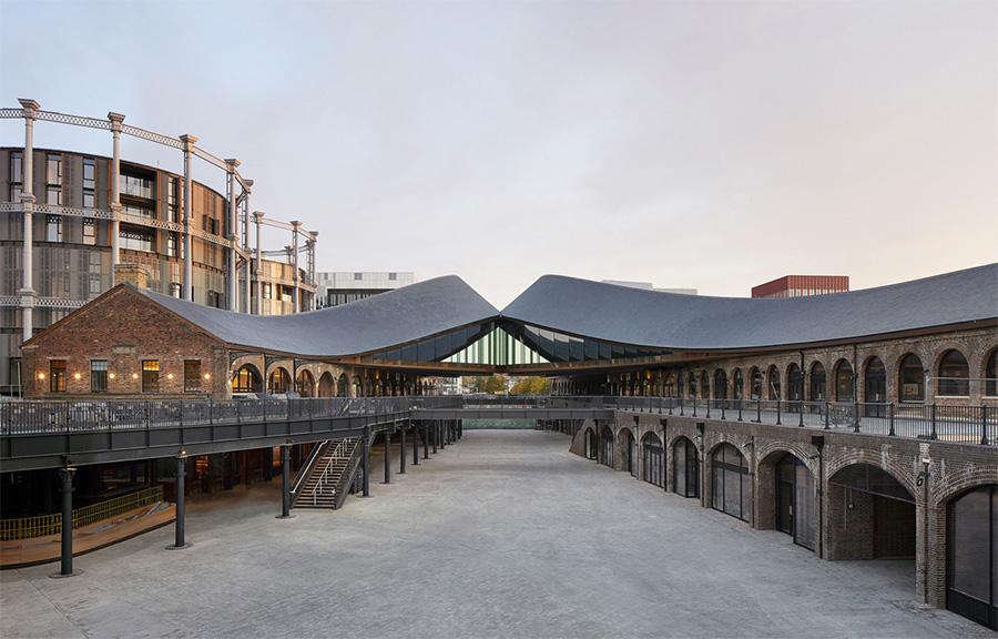 Imagen del complejo dedicado al diseño recientemente inaugurado en Londres Coal Drops