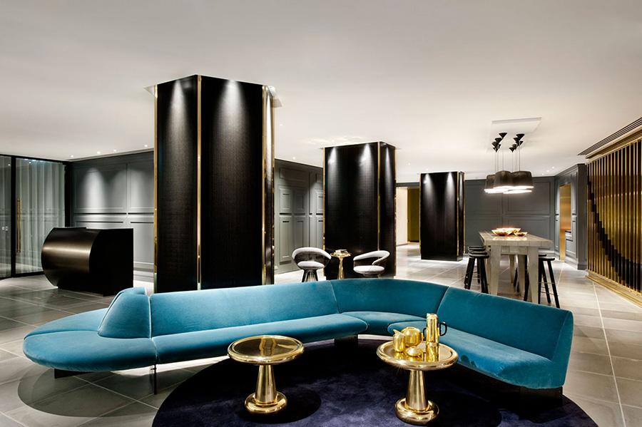 Diseño del interior del Hotel Mondrian de Londres realizado por Tom Dixon