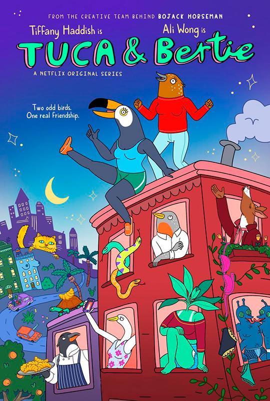 cartel de la serie de Netflix Tuca & bertie