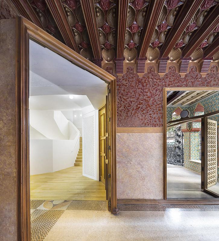 Imagen del interior de la Casa Vicens realizada por el arquitecto catalán Antonio Gaudí en Barcelona
