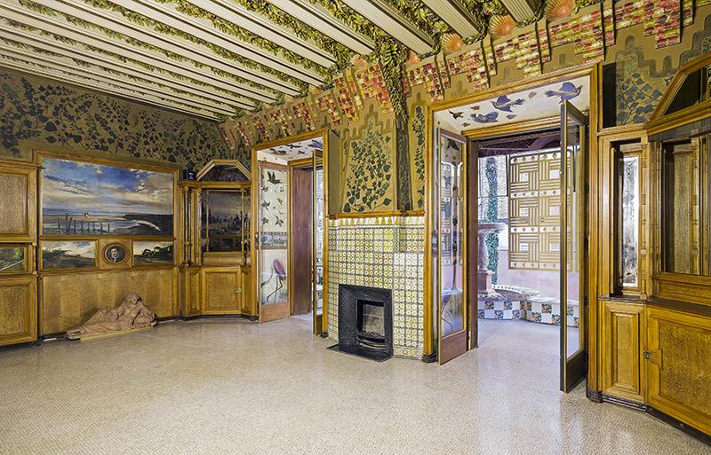 Decoración del interior de la Casa Vicens realizada por el arquitecto catalán Antonio Gaudí en Barcelona