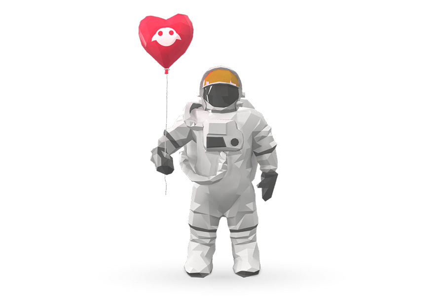 Imagen de un astronauta de Magic Leap.