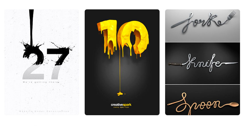 Tendencia diseño gráfico tipografia creativa