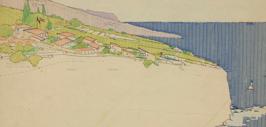 Estudio territorial de La Gomera (1975). © Norman Foster Foundation.