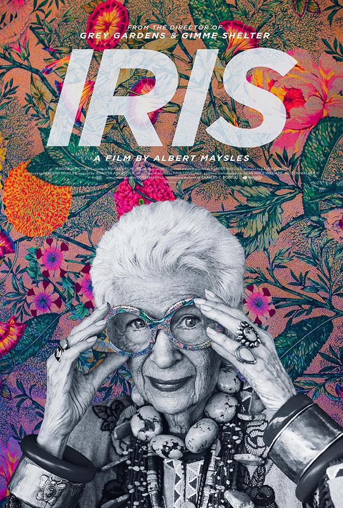 Cartel del documental Iris Apfel de Albert Maysles.