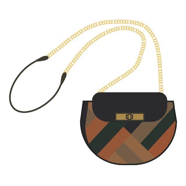 Emoji de un bolso de la diseñadora Iris Apfel.