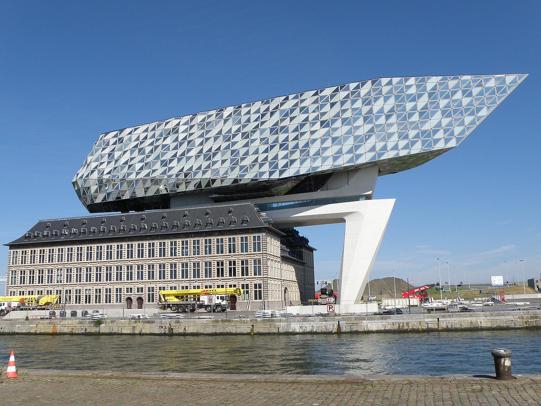 Edificio Autoridad Portuaria en Amberes, Bélgica