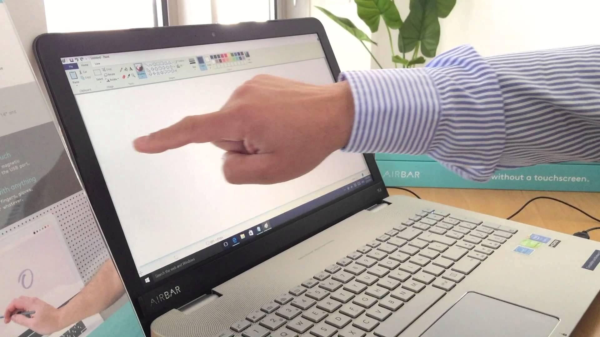 Podemos utilizar la mano para dibujar en la pantalla.