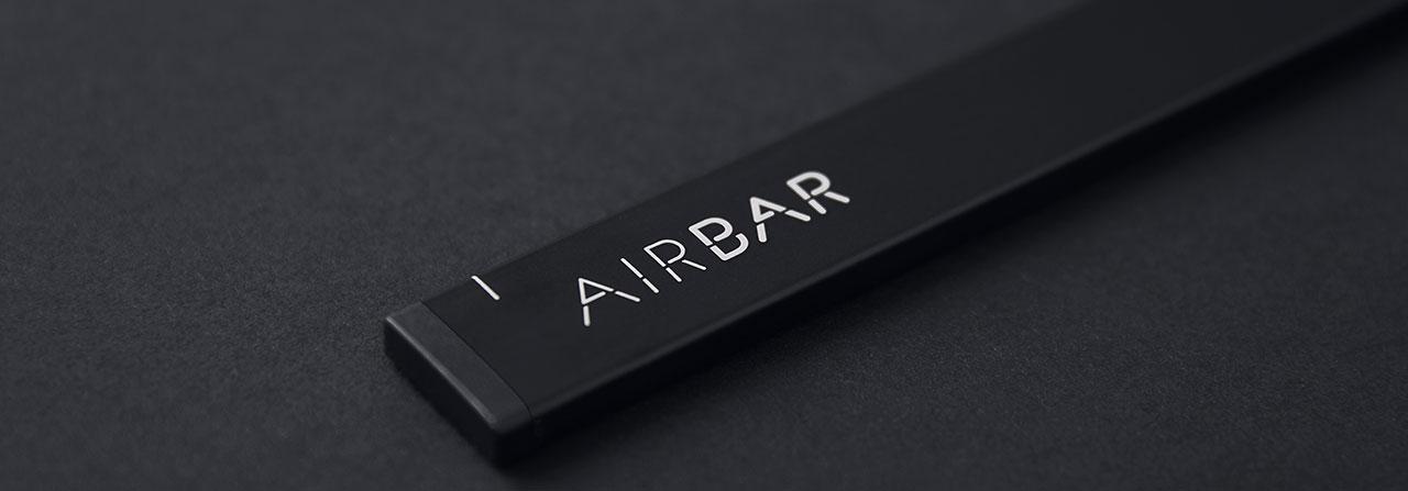 AirBar. Foto de cerca del modelo negro.