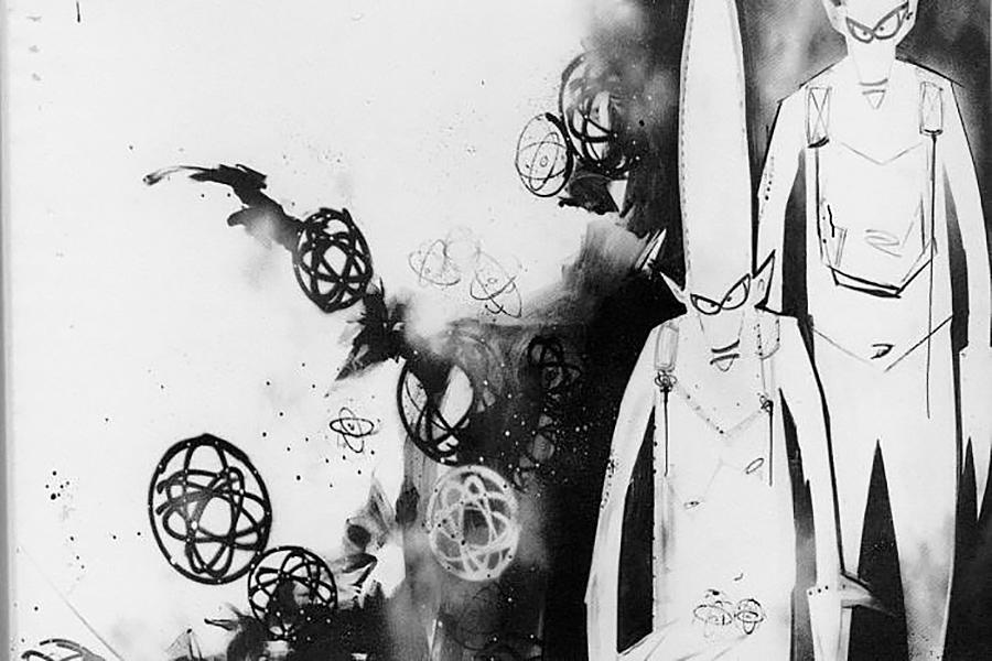 Cuadro/graffiti del artista Futura 2000 que sirvió para utilizar como imagen corporativa del grupo de James Lavelle UNKLE