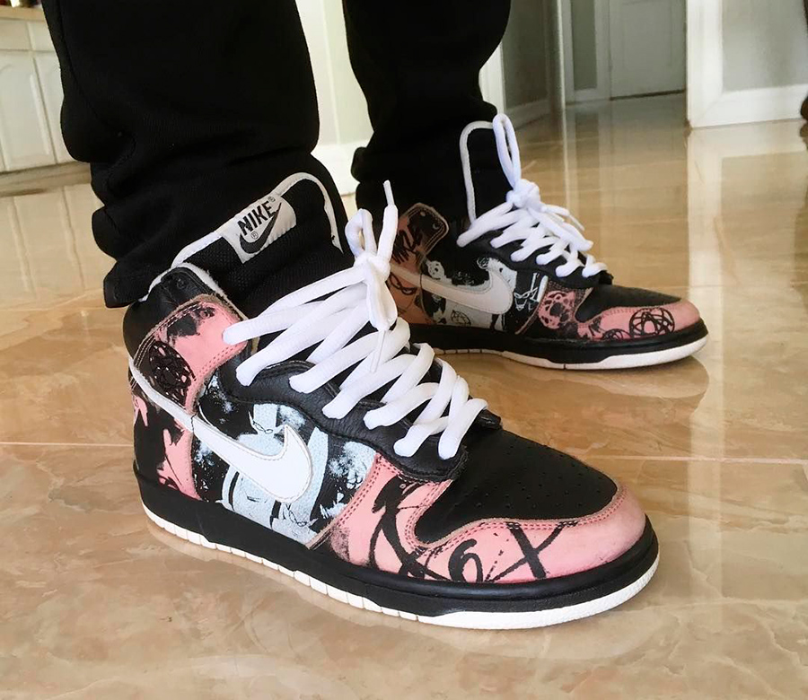 El modelo de zapatilla Nike Dunk High Pro SB Unkle