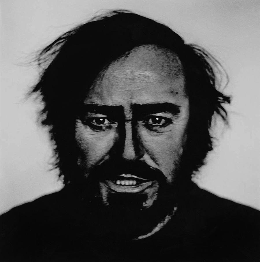 Retrato del cantante italiano de opera Luciano Pavarotti, fotografía de Anton Corbijn