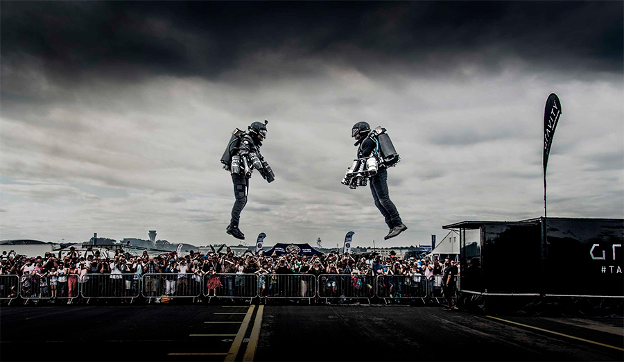 Trajes de propulsión humana Gravity trajes para volar