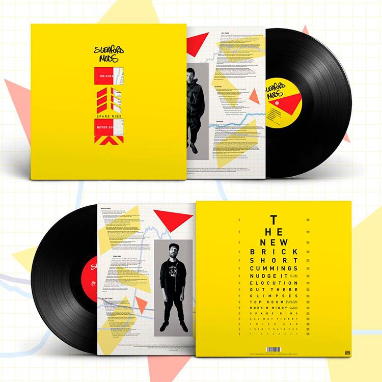 Merchandising Sleaford Mods, Spare Ribs LP black vinyl limited edition sleeve