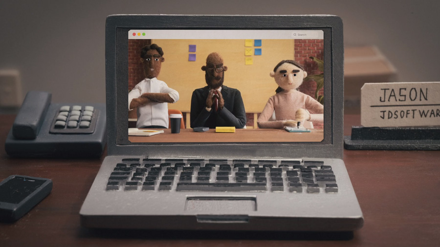 Corto animado realizado en 3D y stop motion para la serie animada de Mailchimp all in a day's world