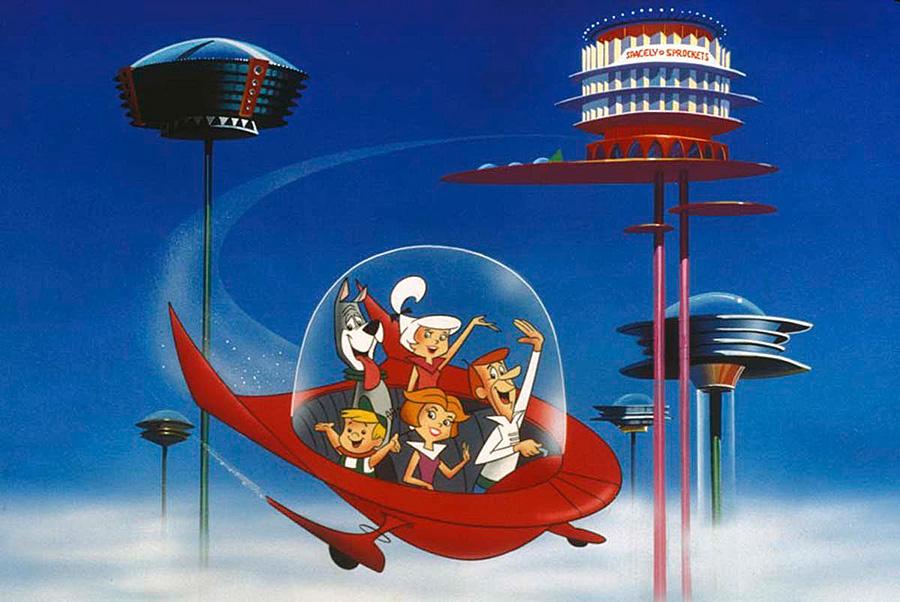 Dibujos animados The Jetsons o Los supersónicos en España de estilo retro futurista