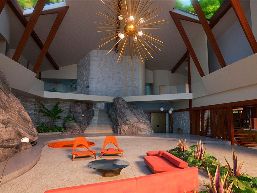 Interior de la casa de Los Parr de la película de Los Increíbles