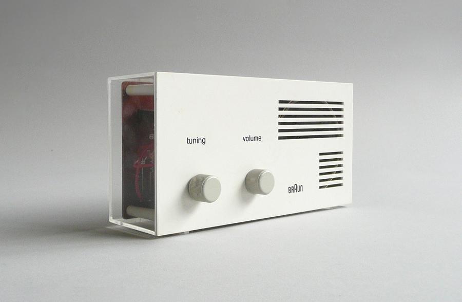 Radio Braun Lectron, diseño del diseñador alemán Dieter Rams