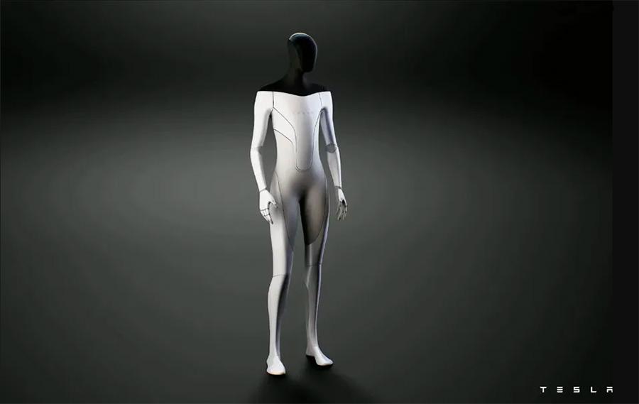 Prototipo de robot humanoide desarrollado por Tesla, la empresa de Elon Musk